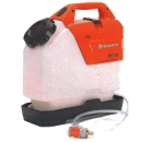 Tryckbehållare, batteridriven för motorkapar